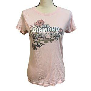 Neil Diamond World Tour Pink Graphic Band Tee